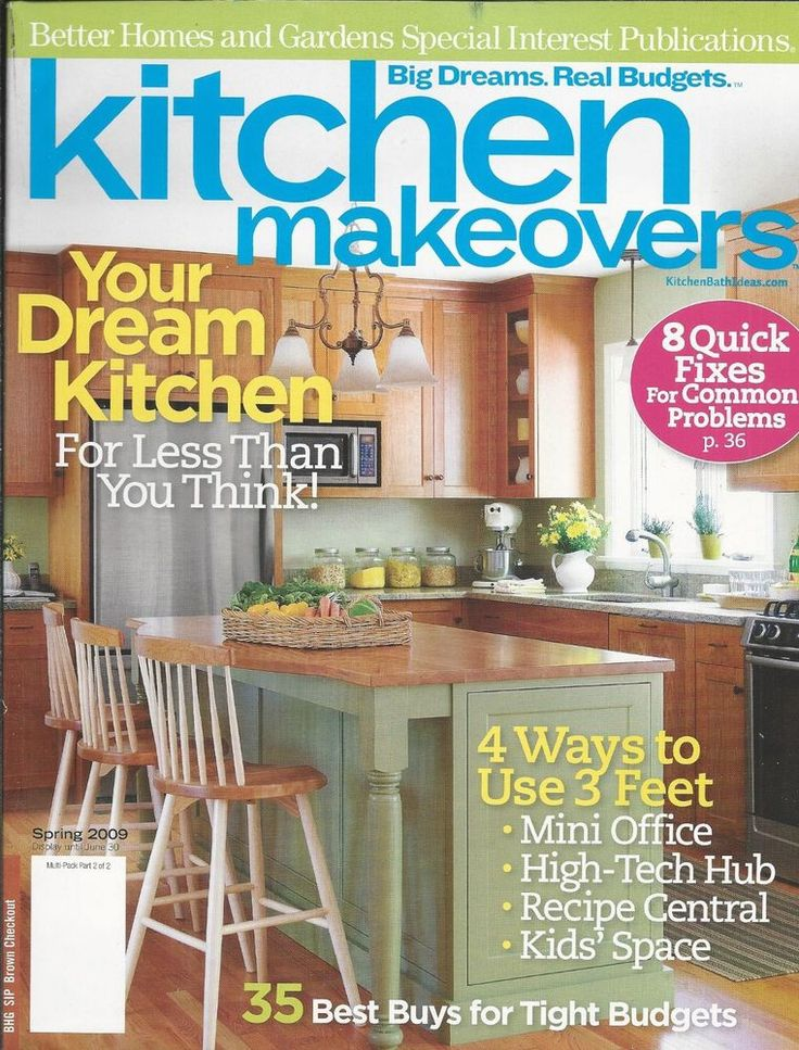 Kitchen Makeovers magazine Mini office High tech hub Recipe central Kids space