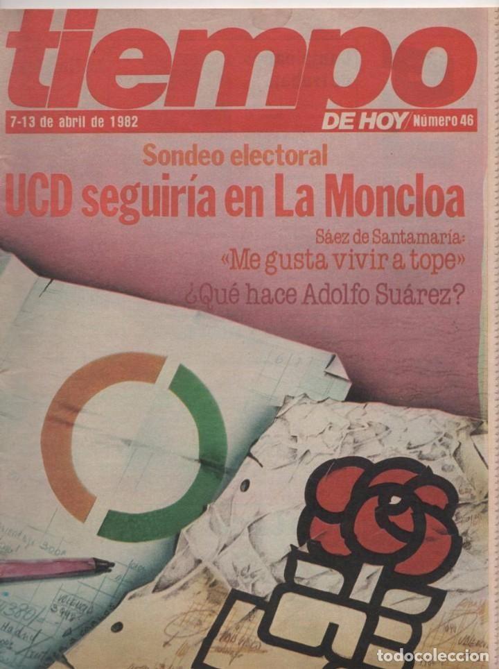 REVISTA TIEMPO Nº 46: SONDEOS ELECTORALES PARA OCTUBRE 1982 ORÍGENES REVISTA TIEMPO COMO SEPARATA