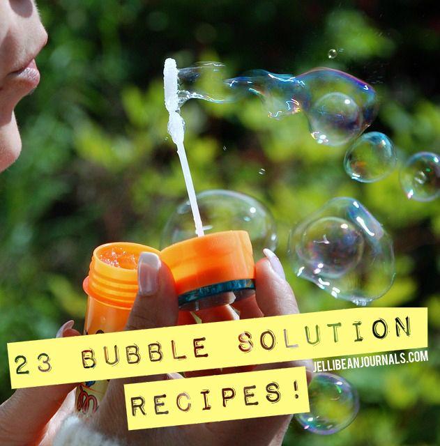 23 Bubble Oplossingen en tips VOOR Het Maken Van Gigantische bubbels! BIJ Jellibeanjournals.com