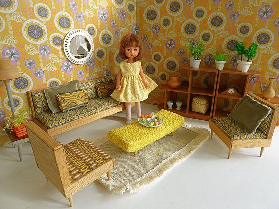 vintage 1950s arco living room sittng room diorama handmade for rh pinterest com