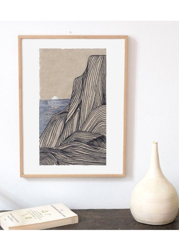 Sunset Is A Limited Edition Giclee Print Of An Original Drawing By Matina Galati