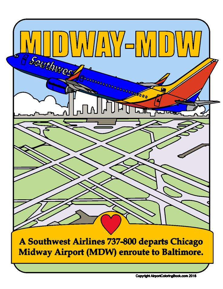 Southwest 737 over Midway in 2020 Midway airport, My