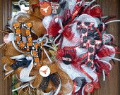 Deco Mesh UT/TEXAS TECH House Divided Wreath