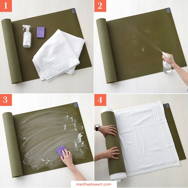 How DO you clean your yoga mat? Learn all the steps at MarthaStewart.com by clicking through the image.
