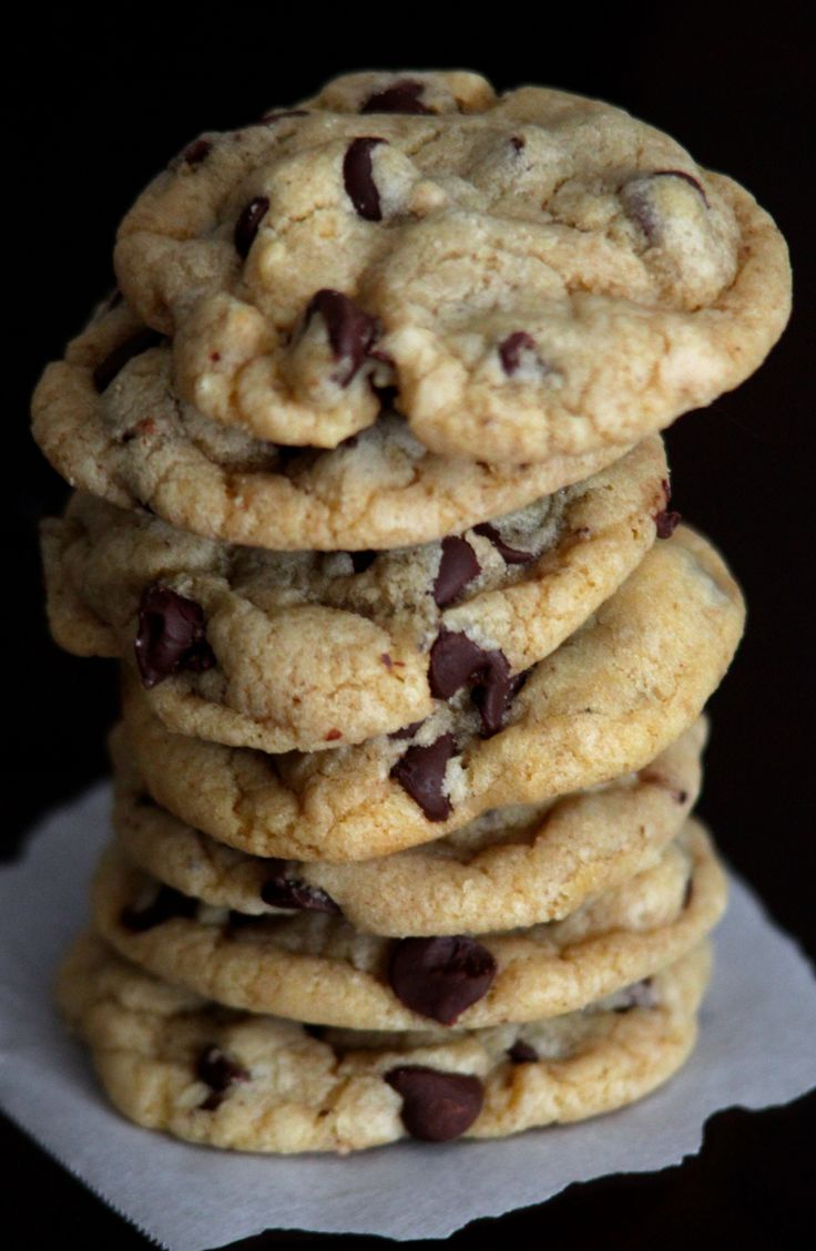 BEST soft chocolate chip cookies I've ever had. Just takes 1 bowl, no mixer! I've even made them in my dorm room.