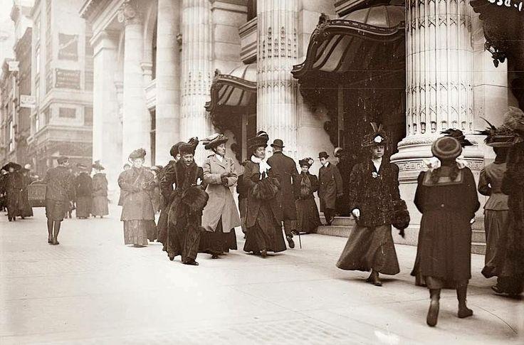 Шоппинг в Нью Йорке, 1900 год.