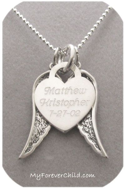 Home To God on Angels Wings Necklace. Misscarrage remembrance necklace. I think this is so tasteful!