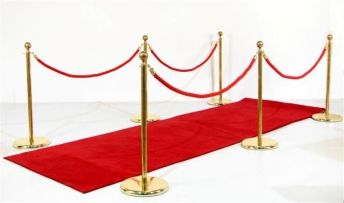 Monopoly Themed Props & Event Theming Party Hire: Red Carpet Walkway (Carpet, 6xStands, 4xRopes)