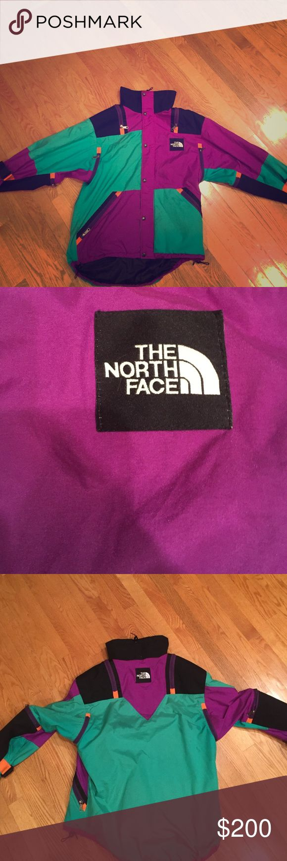 Vintage north face Purple and green with orange hits The North Face Jackets & Coats Ski & Snowboard