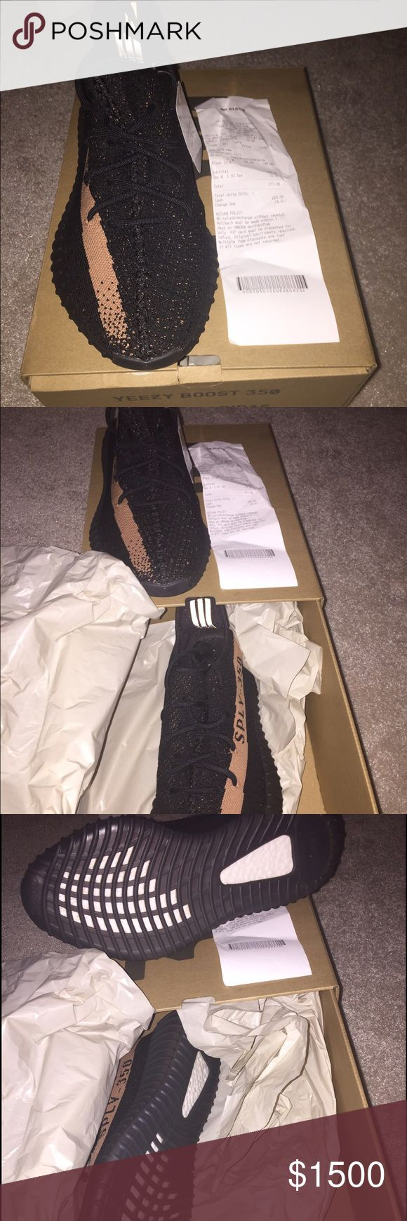 Kanye West Yeezy 350 boost black & copper Brand new in box !! Just purchased today comes with receipt Adidas Shoes Sneakers