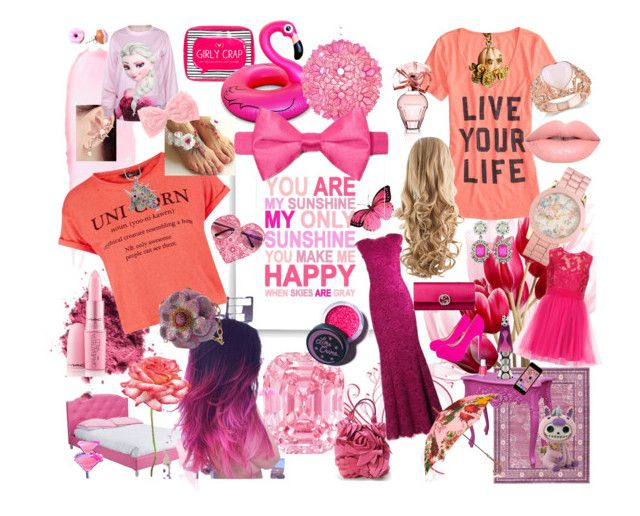 """""""Pretty in Pink"""" by janinepiet on Polyvore featuring beauty, Baxton Studio, American Eagle Outfitters, Finny & Zook, Aéropostale, Brian Atwood, BCBGMAXAZRIA, Valentino, Happy Jackson and Essie"""