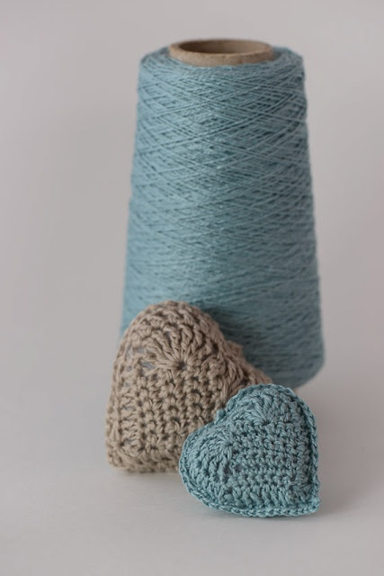 Crochet Linen Thread Hearts - Tutorial  ❥ 4U // hf