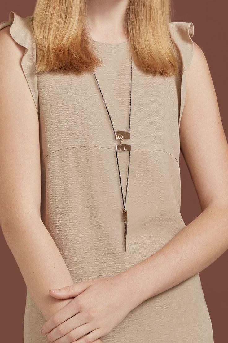 Automne-Hiver 2016, Collier Kohala en bronze (étain, plaqué bronze) === 2016 Fall-Winter, Kohala necklace in bronze (pewter, bronze-plated)