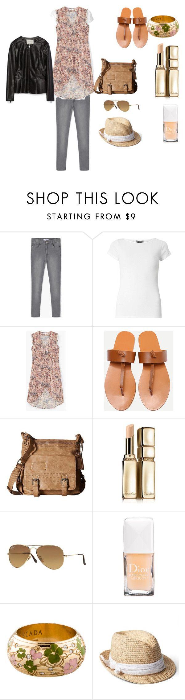 """Not that warm summer outfit"" by janka-dzurillova on Polyvore featuring MANGO, Dorothy Perkins, Sherpani, Guerlain, Ray-Ban, Christian Dior, ESCADA, Gap and Zara"