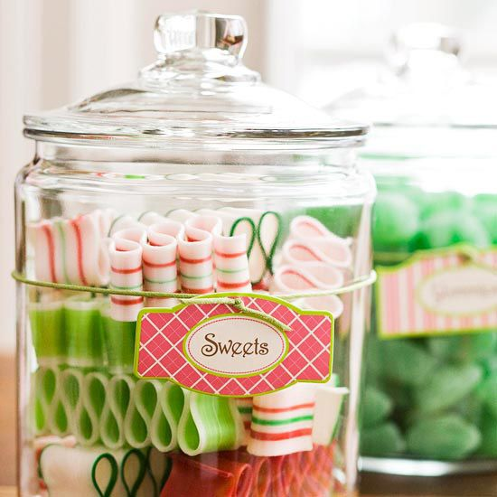 Christmas Decorating Ideas For Glass Jars : Images about candy decorations on