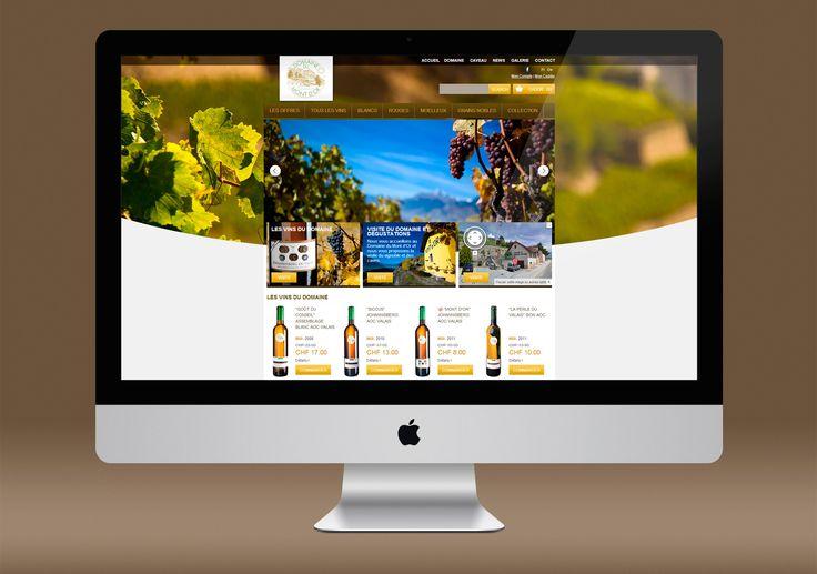 Domain du Mont D'or web design
