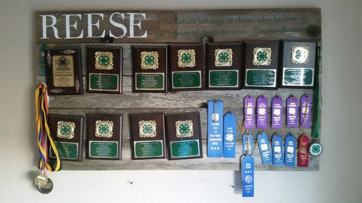 #4h #awards #plaques #award #ribbon #ribbons #display #success #rustic #sign #accomplishment #plaque #