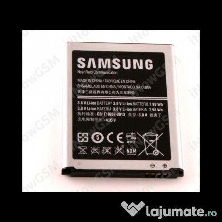 Baterie acumulator originala Samsung Galaxy S3 III i9300 NFC Compatibilitate: Samsung Galaxy S3 III i9300 Cod Samsung: EB-L1G6LLU S/N: AA1F606CS/2-B