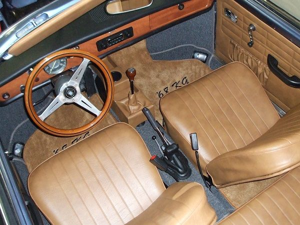 Karmann Ghia Seat Covers: Convertible, Full Sets (Front & Rear)