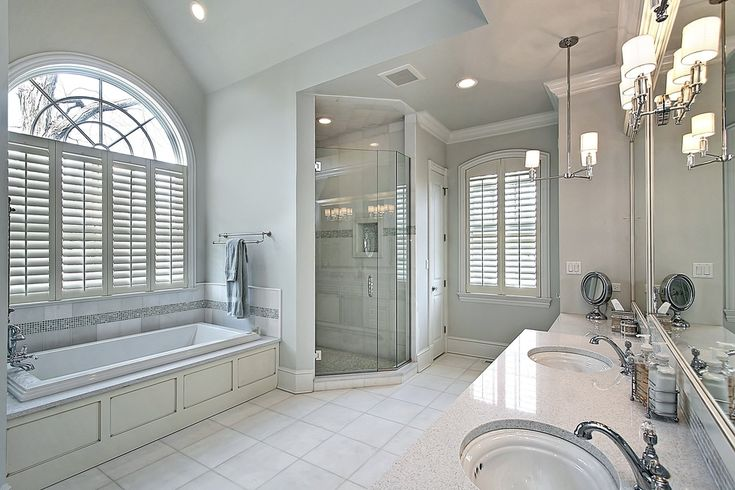 40 luxurious master bathrooms most with incredible for Master bathroom fixtures