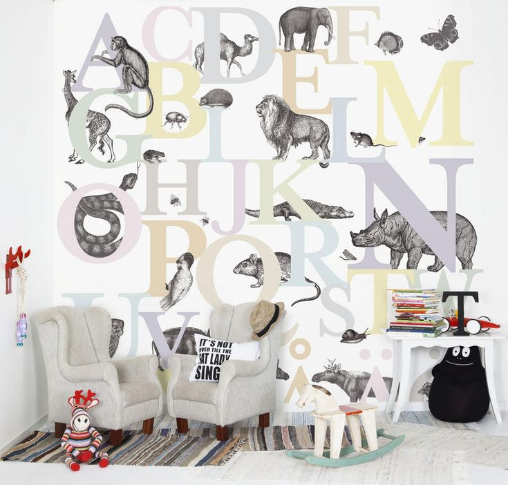 Creative wallpaper that I want to use in my kids bedroom.