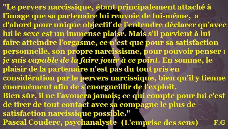 L'emprise des sens par le pervers narcissique (Pascal Couderc, psychanalyste)