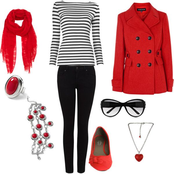 Casual Valentines Outfit, created by suthrnbell2005 on Polyvore