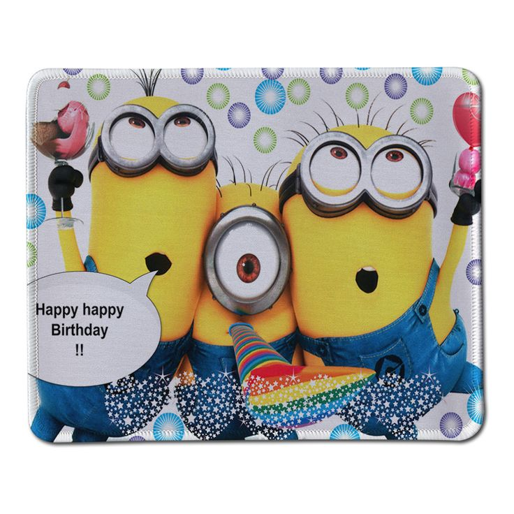 Minions Mouse Pad Computer Mousepad Happy Birthday gift Large Gaming Mouse Mats To Mouse Gamer Anime Rectangular Mouse Pad #Affiliate