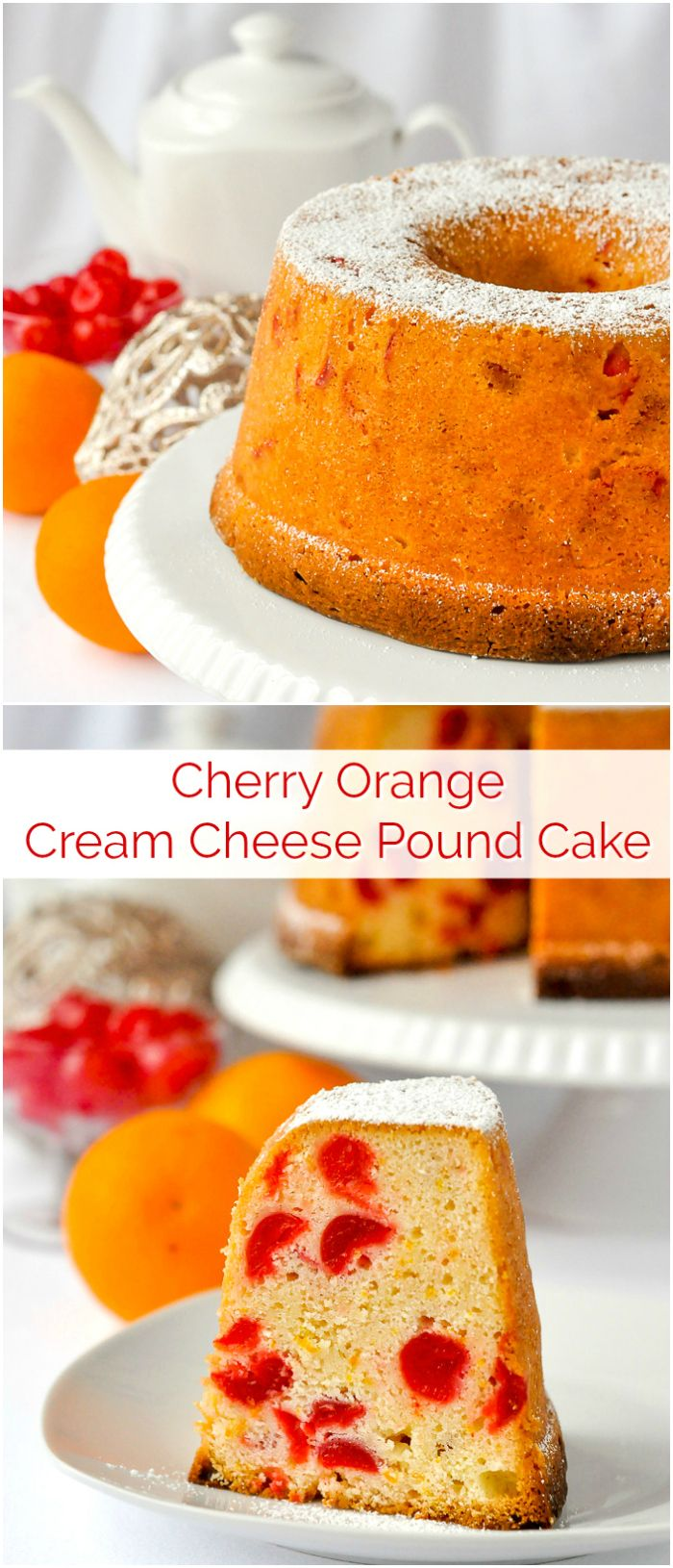 Maraschino Cherry Cream Cheese Pound Cake