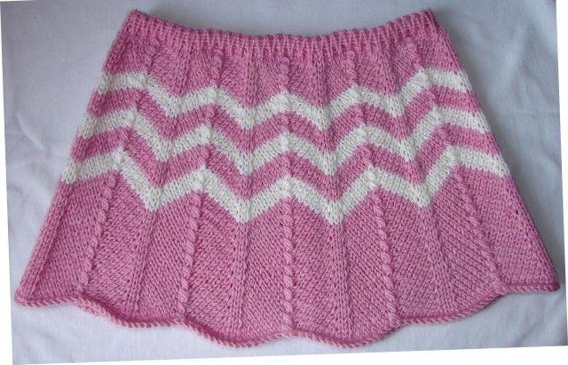 "Юбка для девочки. Узор ""Шеврон"".: knit_stitch"