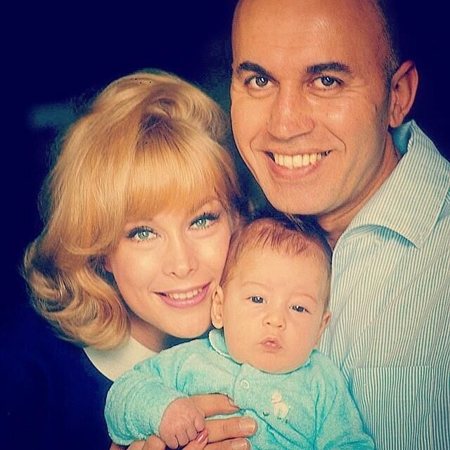 Barbara Eden, Michael Ansara, and son, Matthew 1965.