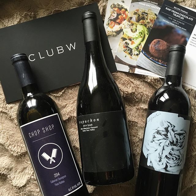 """""""My favorite subscription box #clubw #happyday #wine #justwhatineeded"""" [PC: emileekay28]"""