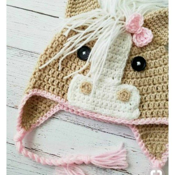 Handmade crochet Horse hat | Products | Pinterest | Cobija, Free y ...