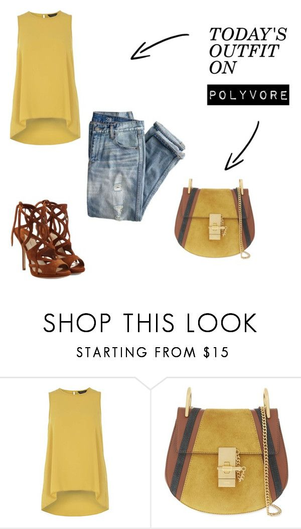"""amarillo"" by natyapshopper on Polyvore featuring moda, J.Crew, Dorothy Perkins, Chloé y Paul Andrew"