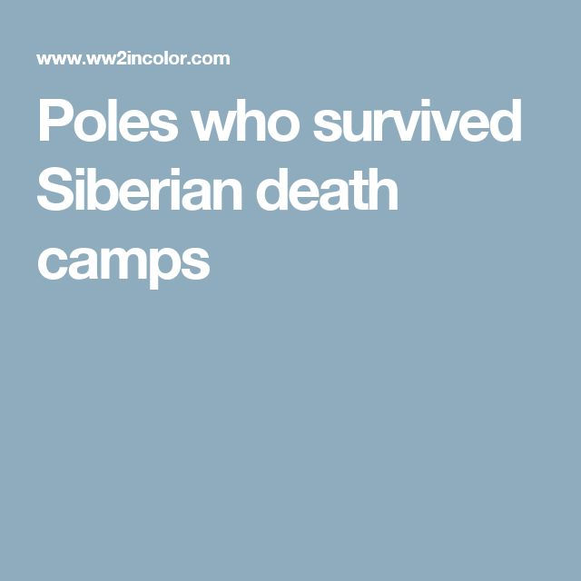 Poles who survived Siberian death camps