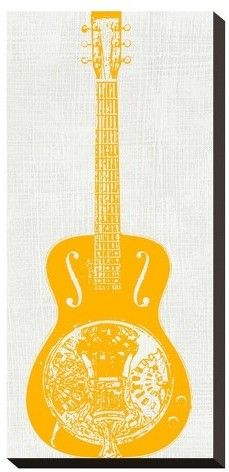 Art.com Guitar Collector Iv By Kevin Inge Stretched Canvas Print