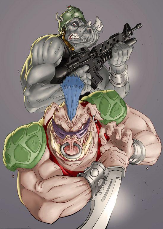 Bebop and Rocksteady by ~CyberMonkeytron3000 on deviantART