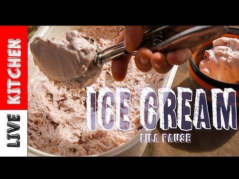 """""""Σπιτικό Παγωτό"""" - LILA PAUSE- χωρίς παγωτομηχανή ice cream-live kitchen - YouTube"""