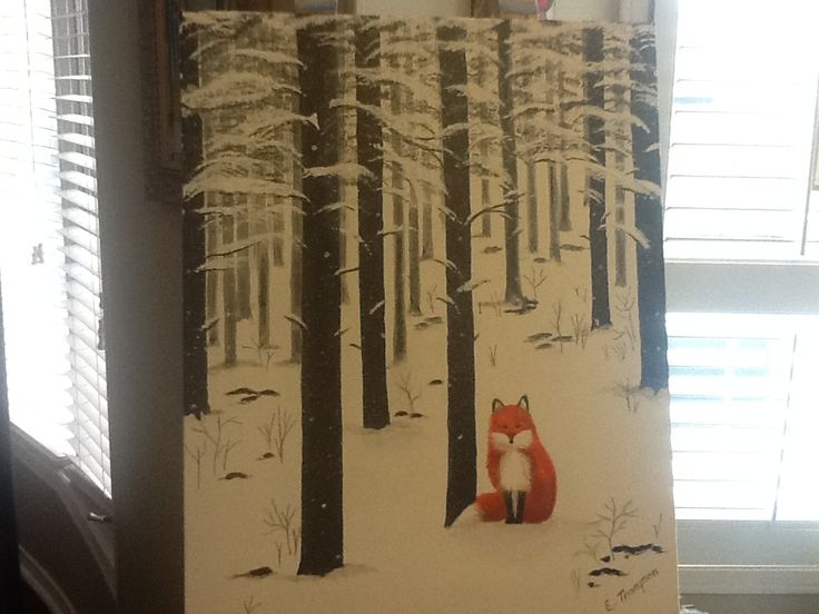 My fox painting.