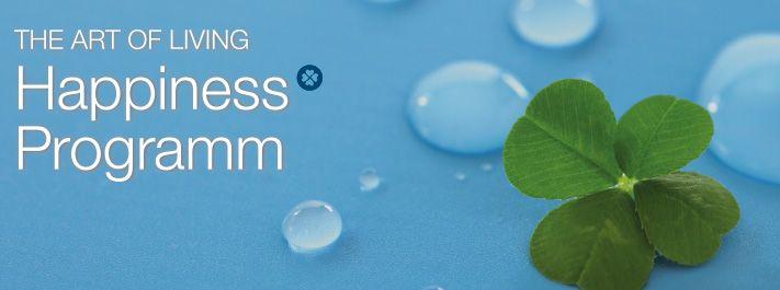 """Die offizielle Einführung der neuen Kurse """"The Art of Living Happiges Programm"""" wird am 20.März am International Day of Happiges stattfinden. In über 160 Ländern findet zu der gleichen Zeit der Art of Living Happiges Programm statt. Mehr unter: http://www.artofliving.org/de-de/das-art-living-happi%C2%ADness-pro%C2%ADgramm-die-kunst-glücklich-zu-sein"""