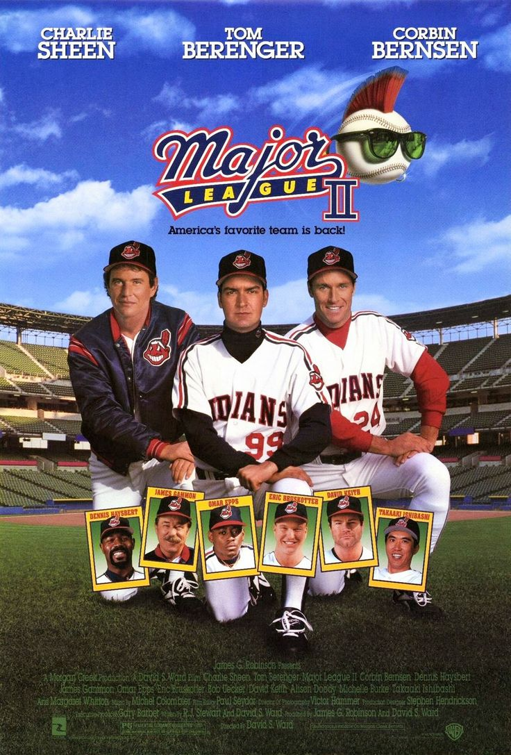 """Major League II"" movie poster, 1994."
