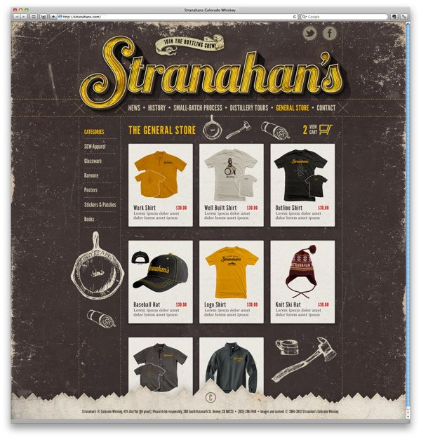 Stranahan's Whiskey Rebranding by The Made Shop, via Behance