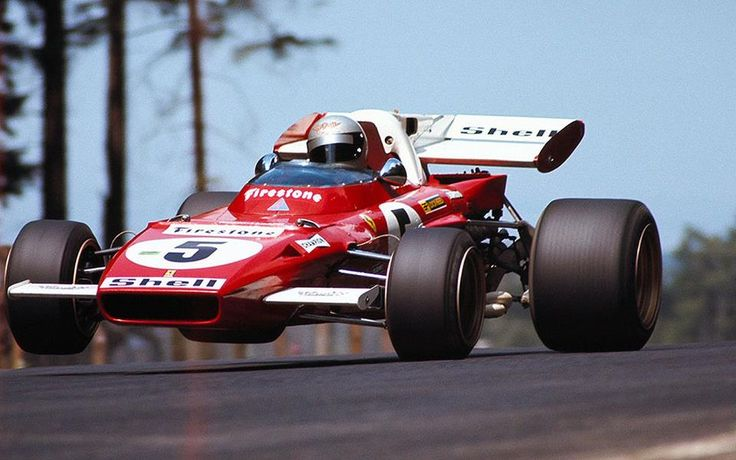 Mario Andretti, Ferrari 312B2, 1971 German Grand Prix, Nürburgring