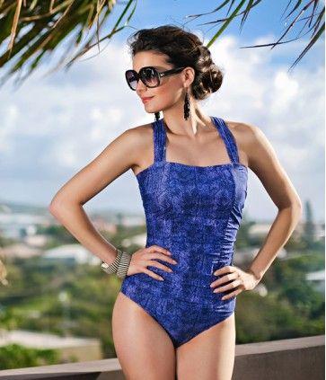 Elena cross-back mastectomy one-piece in Micru