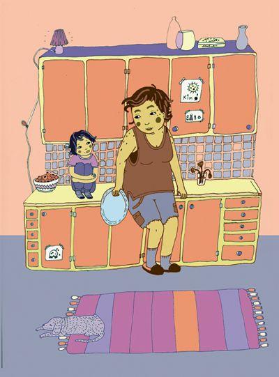Kims familj är en ovanlig men trovärdig samtidsfamilj som utmanar flera traditionella normer och värderingar kring familjebildning. Säkert kan boken användas i förskolans genuspedagogik. Men framför allt är detta en finstämd berättelse för barn som ska få eller precis har fått ett syskon.