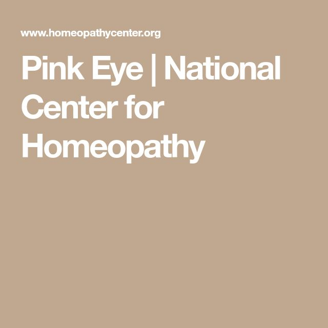 Pink Eye   National Center for Homeopathy