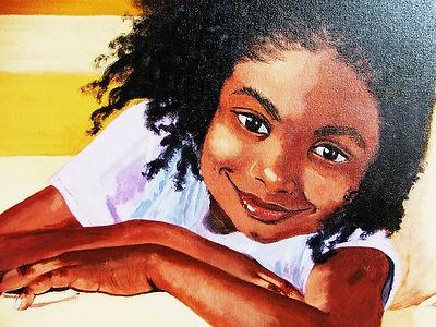 Original Acrylic Painting on Canvas by Sandra Walker African American Girl | eBay
