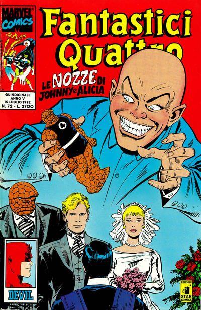Cover for Fantastici Quattro (Edizioni Star Comics, 1988 series) #72