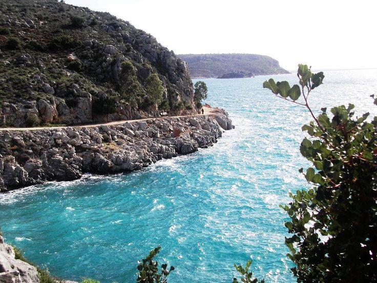 Nafplio Greece,From Neraki location to Karathona