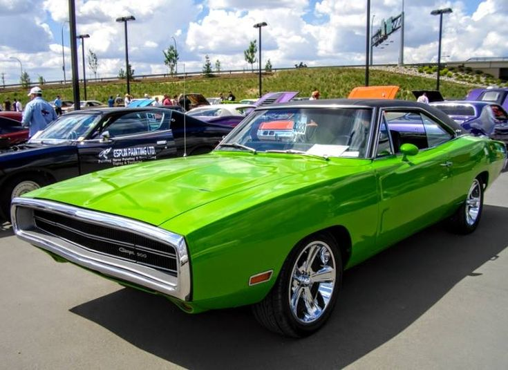 Shiny Green 1970 Dodge Charger 500